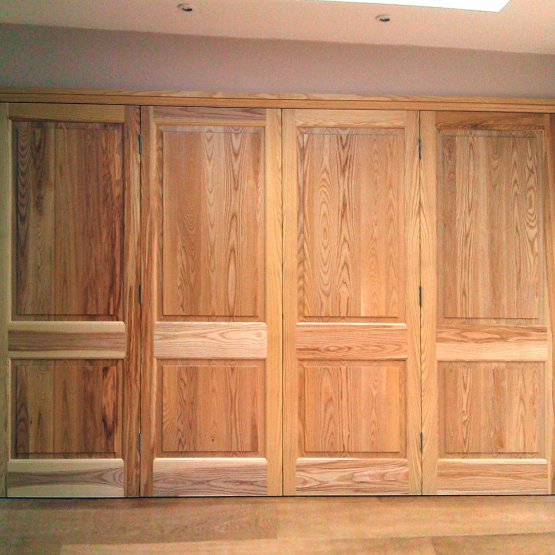 Set of four ash panelled doors.